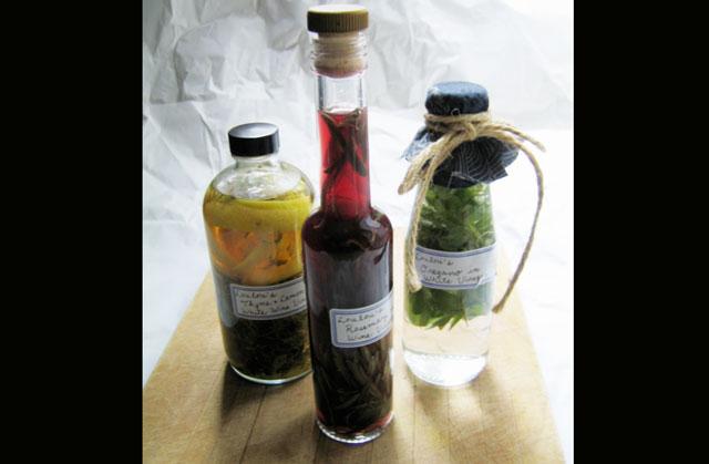 flavoured vinegars