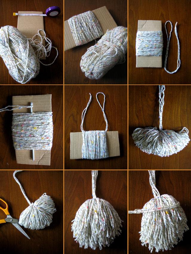 yarn tassel steps