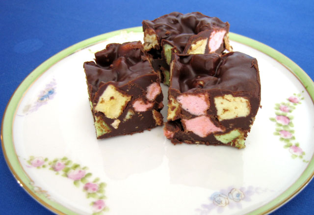 Food Friday Chocolate Peanut Marshmallow Squares