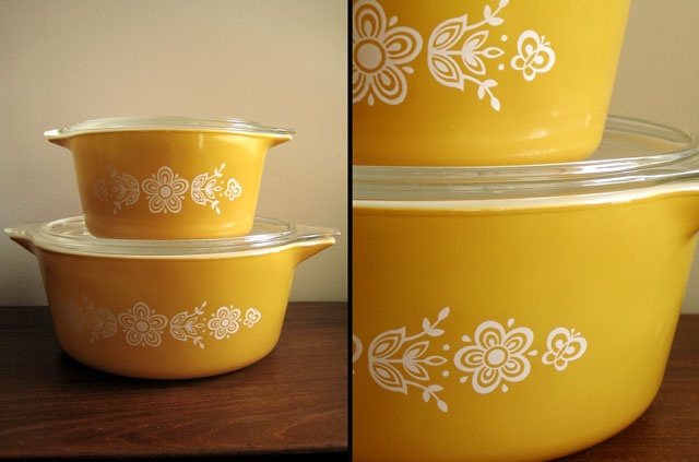 pyrex yellow butterfly
