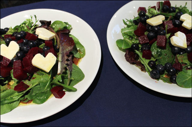 beet and blueberry salad-for-two