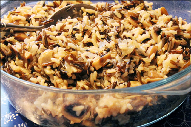 baked rice with wild rice