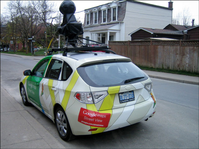 Spotted : The Google Maps Street-View Car!   Loulou Downtown on google maps cat, google maps fight, google maps police, google maps pizza, google maps boat, google maps driver, google maps airport, google maps racing, google maps crime scene, google maps flashing, google maps shotgun, google maps blood, google maps construction, google maps bus, google maps walking, google maps transport, google maps english, google maps fast food, google maps helicopter, google maps fire,