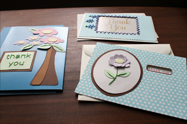 make thank you cards with photos