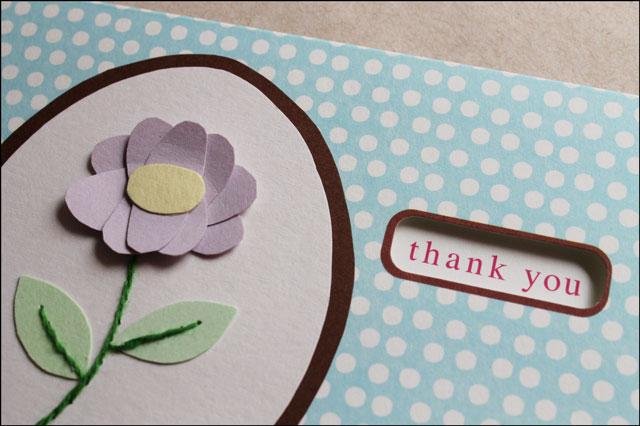 Handmade thankyou card 2a