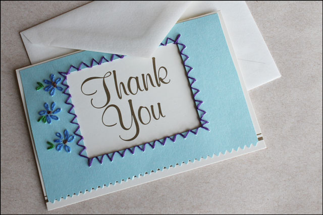 Recent Card Making Embroidered Thank You Cards Diy