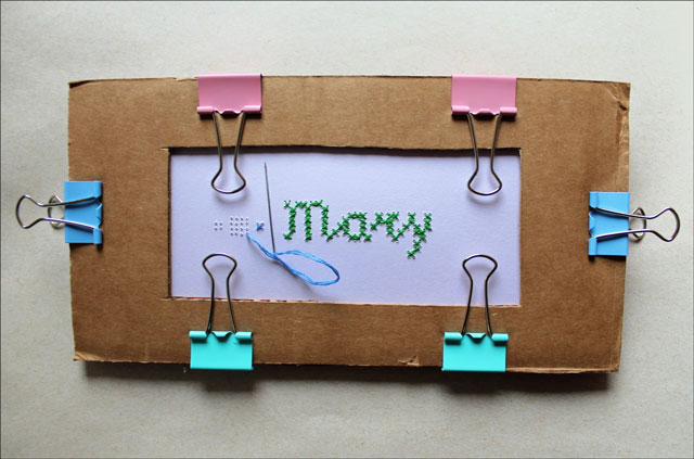 cross stitch on paper