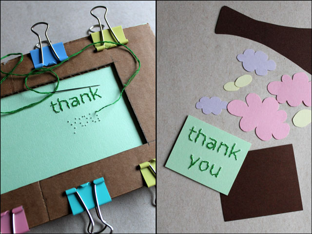 Hand Embroidered Thank You Cards