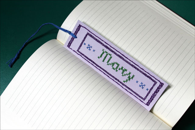 embroidered name bookmark02