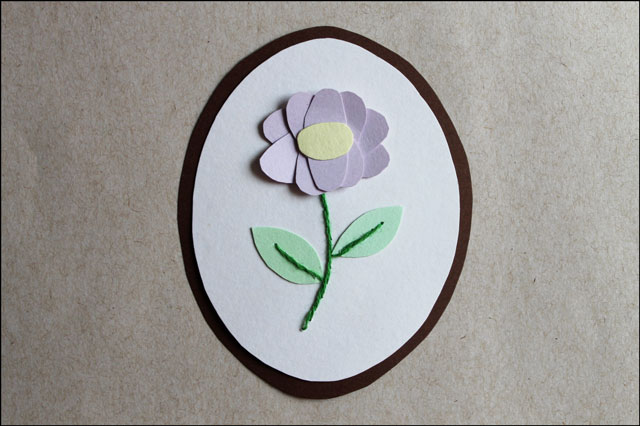 paper and embroidery flower