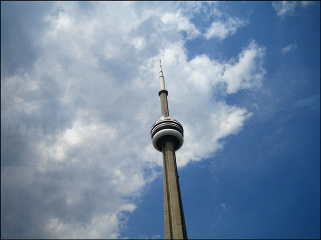cn tower from below