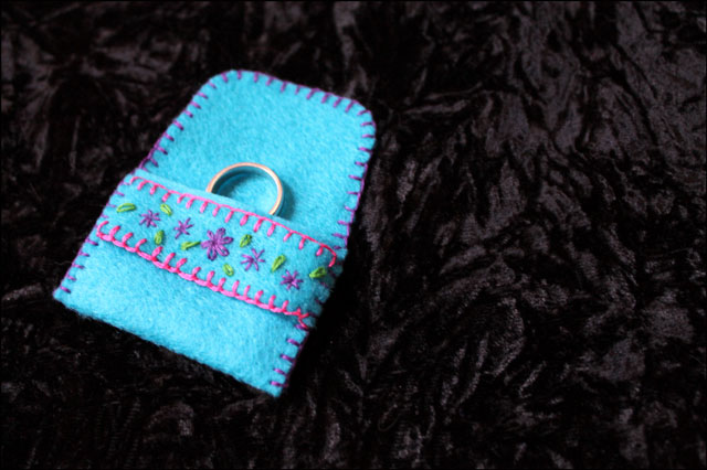 diy ring holder pouch