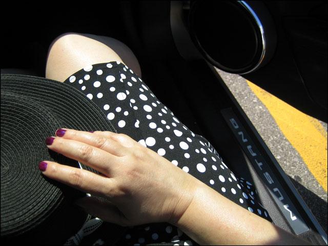 lou in car