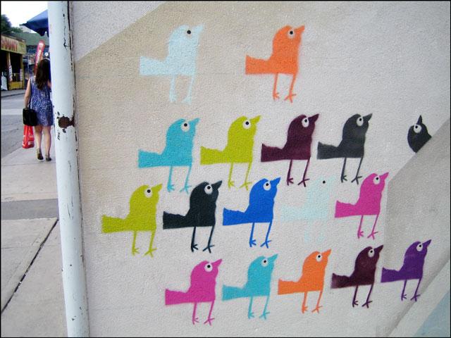 stencil birds in kensington