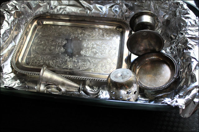 Silver Cleaning Aluminum Foil Images