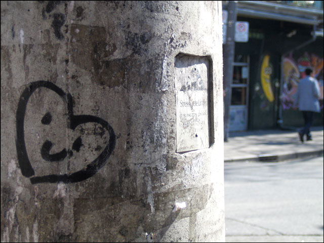 heart on a pole