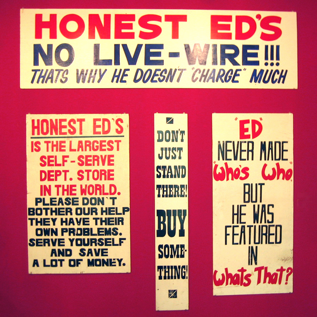 old honest eds signs hand painted