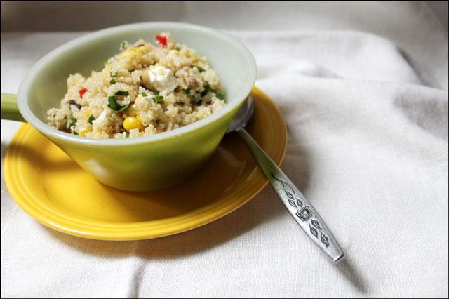 serving of quinoa salad