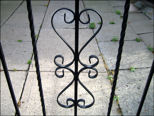 wrought iron hearts