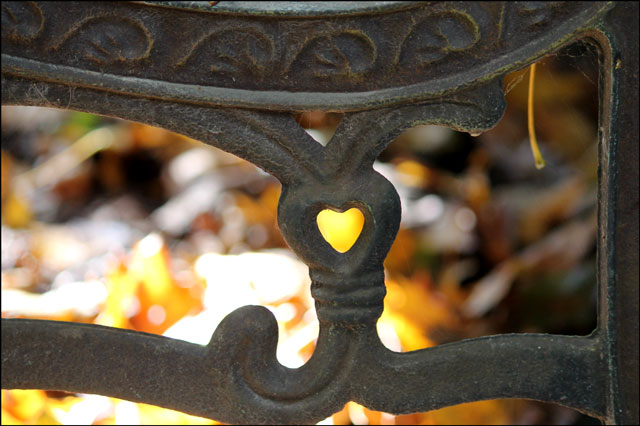 cast iron heart cutout