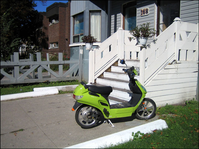 green moped