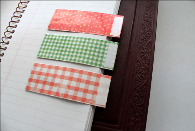 handmade notebook divider tabs