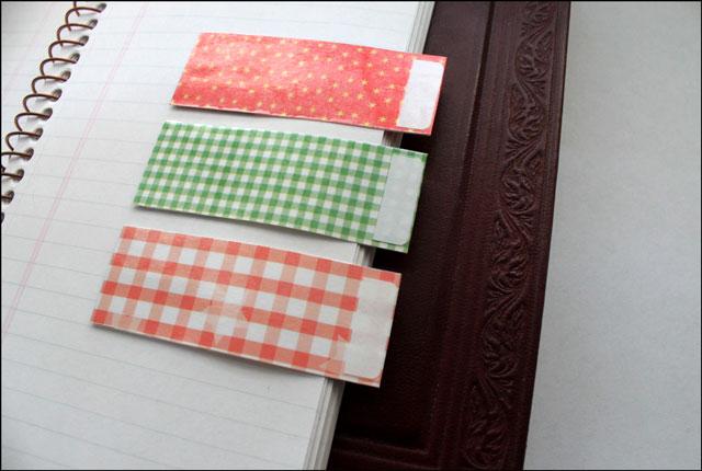 handmade notebook tabs