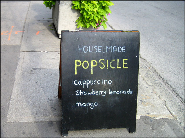 house made popsicle
