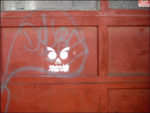 jackolantern graffiti