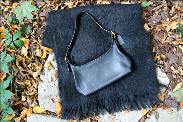purse and mohair shawl