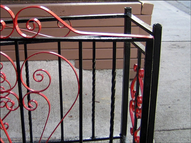 red and black fence
