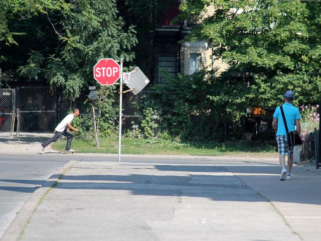 skateboarder and plaid shor
