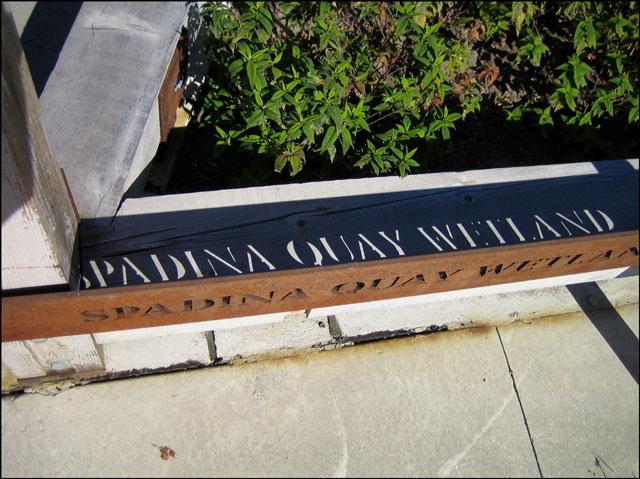 spadina quay wetland sign