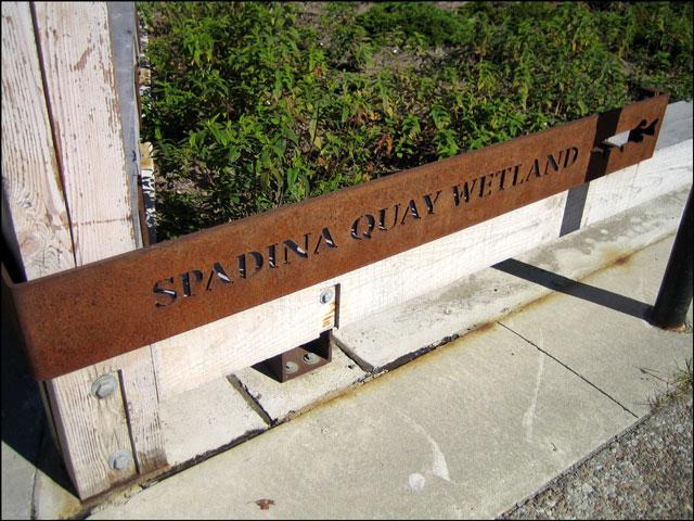 spadina wetland sign 2
