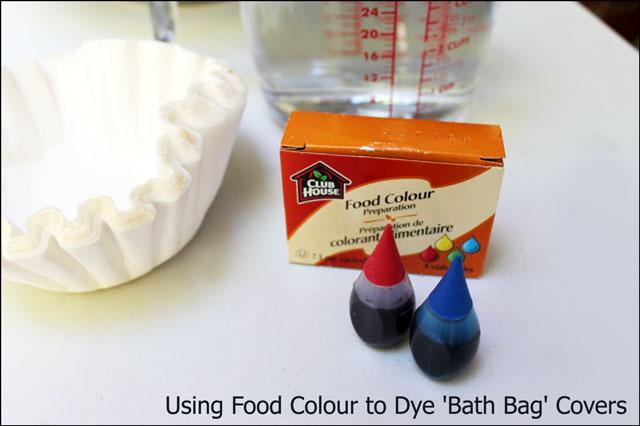 supplies to make bath bag c