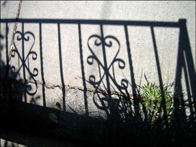 wrought iron shadow