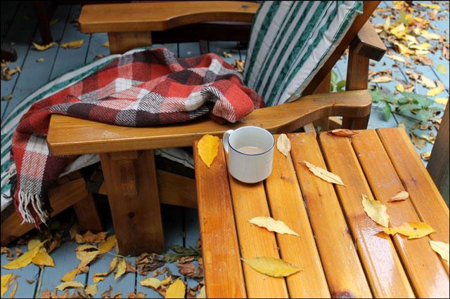 autumn coffee outdoors