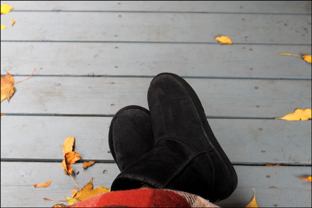 boot slippers outside