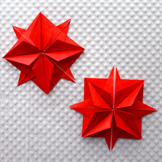 8 Point Origami Stars Gift Decorations