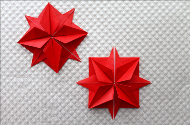 8 point origami stars