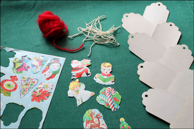 diy gift tags with vintage