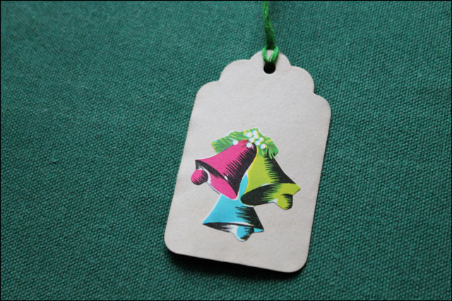 handmade gift tag with vint