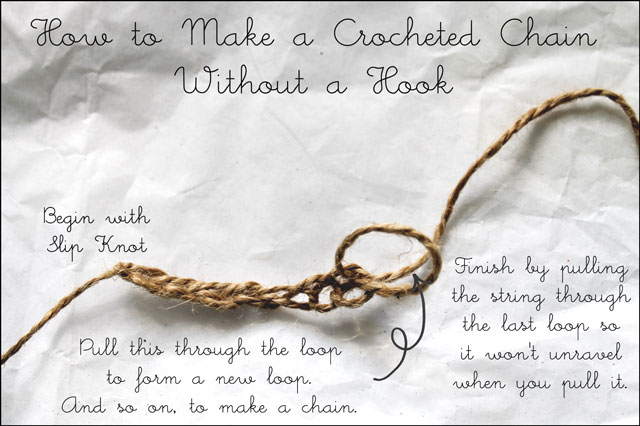 how to make a string chain