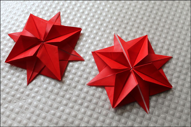 origami 8 point stars