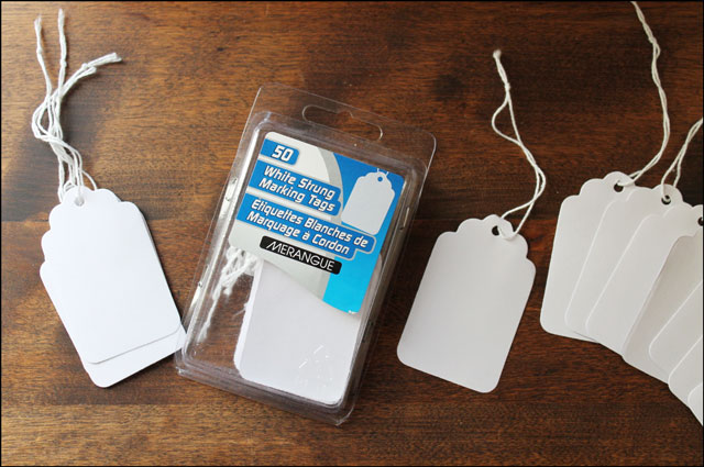 plain white marking tags