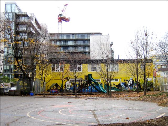 urban school yard