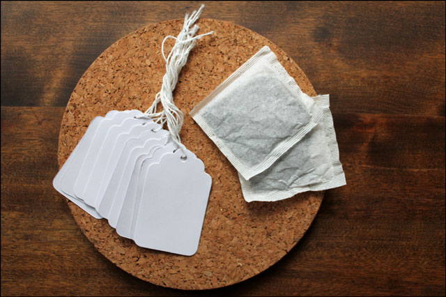 using tea to age paper