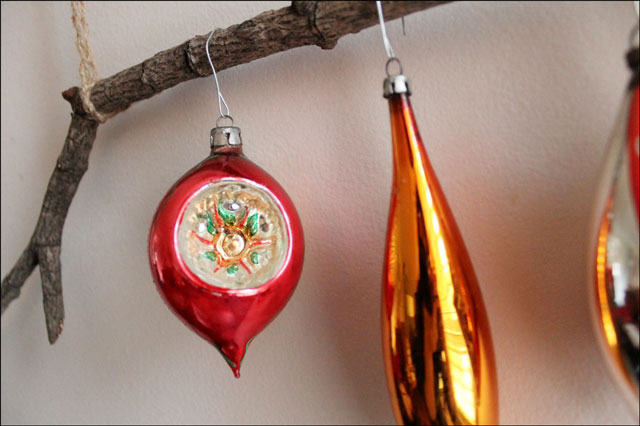 vintage ornament on handmad