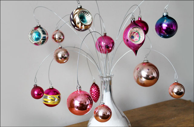 vintage ornaments on diy di