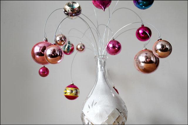 vintage-pink-ornaments-on-display
